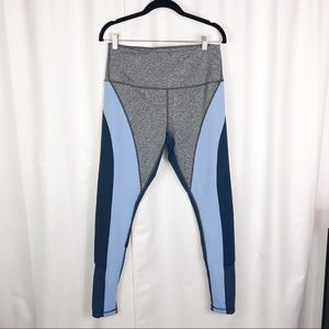 Zella heather gray and blue leggings